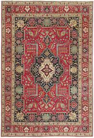 Tabriz Patina Matto 235X342 Itämainen Käsinsolmittu Tummanpunainen/Punainen (Villa, Persia/Iran)