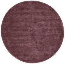 Handloom - Deep Wine Matto Ø 150 Moderni Pyöreä Tummanvioletti/Tummanruskea (Villa, Intia)