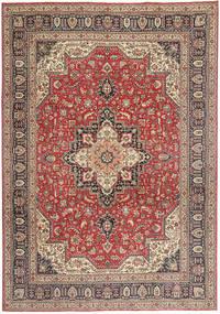 Tabriz Patina Matto 244X343 Itämainen Käsinsolmittu Tummanpunainen/Vaaleanruskea (Villa, Persia/Iran)