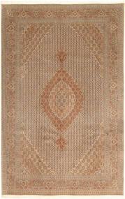 Tabriz 40 Raj Matto 203X314 Itämainen Käsinsolmittu Ruskea/Vaaleanruskea (Villa/Silkki, Persia/Iran)