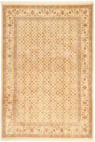 Tabriz 50 Raj Matto 197X287 Itämainen Käsinsolmittu Tummanbeige/Beige (Villa, Persia/Iran)