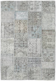 Patchwork Matto 159X231 Moderni Käsinsolmittu Vaaleanharmaa/Vaaleanvihreä (Villa, Turkki)