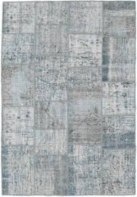 Patchwork Matto 159X231 Moderni Käsinsolmittu Vaaleanharmaa (Villa, Turkki)