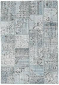 Patchwork Matto 160X230 Moderni Käsinsolmittu Vaaleanharmaa (Villa, Turkki)
