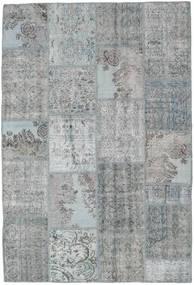 Patchwork Matto 158X234 Moderni Käsinsolmittu Vaaleanharmaa/Sininen (Villa, Turkki)