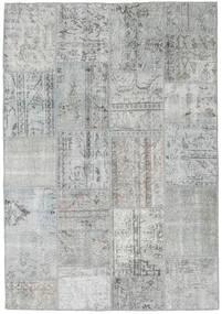 Patchwork Matto 160X232 Moderni Käsinsolmittu Siniturkoosi/Vaaleanharmaa (Villa, Turkki)