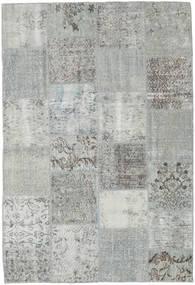 Patchwork Matto 157X230 Moderni Käsinsolmittu Vaaleanharmaa/Siniturkoosi (Villa, Turkki)