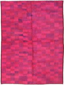 Colored Vintage Matto 140X192 Moderni Käsinsolmittu Pinkki (Villa, Turkki)