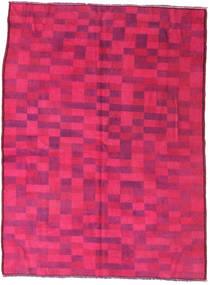 Colored Vintage Matto 144X195 Moderni Käsinsolmittu Pinkki/Punainen (Villa, Turkki)