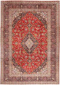 Keshan Matto 245X347 Itämainen Käsinsolmittu Tummanpunainen/Ruoste (Villa, Persia/Iran)