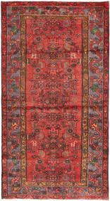 Hamadan Matto 108X207 Itämainen Käsinsolmittu Tummanpunainen/Ruoste (Villa, Persia/Iran)