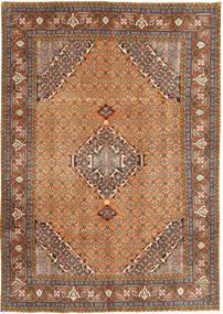 Ardebil Matto 197X286 Itämainen Käsinsolmittu Vaaleanruskea/Tummanharmaa (Villa, Persia/Iran)