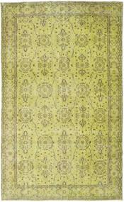 Colored Vintage Matto 183X296 Moderni Käsinsolmittu Keltainen/Oliivinvihreä (Villa, Turkki)