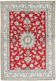 Nain Matto 147X214 Itämainen Käsinsolmittu Vaaleanharmaa/Punainen (Villa, Persia/Iran)