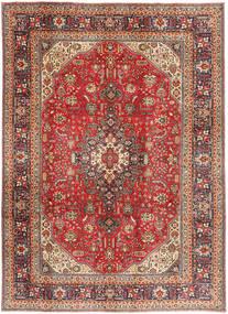 Tabriz Matto 200X281 Itämainen Käsinsolmittu Tummanpunainen/Vaaleanruskea (Villa, Persia/Iran)