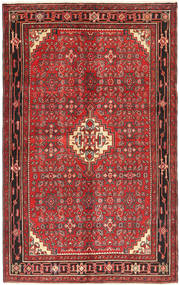 Hosseinabad Matto 153X245 Itämainen Käsinsolmittu Tummanpunainen/Tummanruskea (Villa, Persia/Iran)
