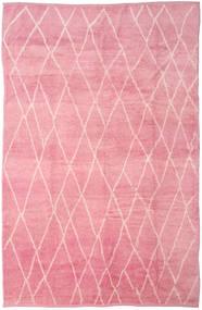 Handknotted Berber Shaggy Matto 273X415 Moderni Käsinsolmittu Vaaleanpunainen/Pinkki Isot (Villa, Turkki)