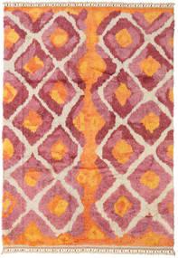 Handknotted Berber Shaggy Matto 196X281 Moderni Käsinsolmittu Oranssi/Ruoste (Villa, Turkki)