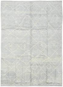 Handknotted Berber Shaggy Matto 236X316 Moderni Käsinsolmittu Vaaleanharmaa/Beige (Villa, Turkki)
