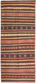 Kelim Fars Matto 157X380 Itämainen Käsinkudottu Käytävämatto Tummanpunainen/Punainen (Villa, Persia/Iran)