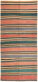 Kelim Fars Matto 160X353 Itämainen Käsinkudottu Käytävämatto Tummanharmaa/Vaaleanpunainen (Villa, Persia/Iran)