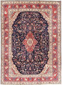 Hamadan#Shahrbaf Matto 222X305 Itämainen Käsinsolmittu Vaaleanharmaa/Tummanvioletti (Villa, Persia/Iran)