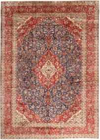 Keshan Matto 297X410 Itämainen Käsinsolmittu Tummanpunainen/Tummanruskea Isot (Villa, Persia/Iran)