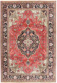 Tabriz Matto 200X287 Itämainen Käsinsolmittu Tummanpunainen/Ruskea (Villa, Persia/Iran)