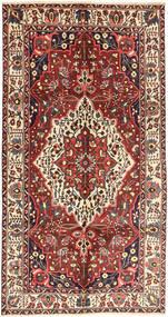 Bakhtiar Matto 157X296 Itämainen Käsinsolmittu Käytävämatto Tummanpunainen/Tummanruskea (Villa, Persia/Iran)