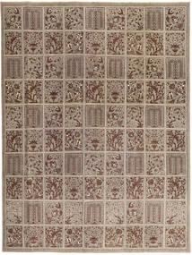 Tabriz Patina Matto 270X364 Itämainen Käsinsolmittu Vaaleanharmaa/Ruskea Isot (Villa, Persia/Iran)