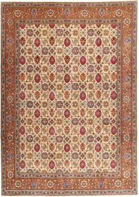 Tabriz Patina Matto 250X345 Itämainen Käsinsolmittu Tummanruskea/Ruskea Isot (Villa, Persia/Iran)