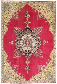 Tabriz Patina Matto 220X318 Itämainen Käsinsolmittu Punainen/Tummanbeige (Villa, Persia/Iran)