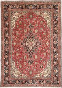 Tabriz Patina Matto 244X346 Itämainen Käsinsolmittu Tummanpunainen/Vaaleanruskea (Villa, Persia/Iran)