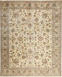 Tabriz Patina Matto 303X380 Itämainen Käsinsolmittu Beige/Ruskea Isot (Villa, Persia/Iran)