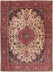 Tabriz Patina Matto 286X380 Itämainen Käsinsolmittu Tummanpunainen/Tummanruskea Isot (Villa, Persia/Iran)
