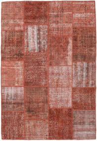 Patchwork Matto 158X232 Moderni Käsinsolmittu Tummanpunainen (Villa, Turkki)
