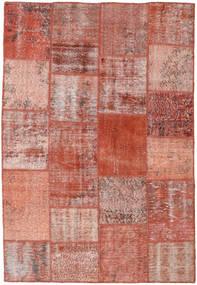 Patchwork Matto 158X231 Moderni Käsinsolmittu Tummanpunainen/Vaaleanpunainen (Villa, Turkki)