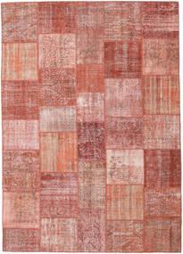 Patchwork Matto 252X354 Moderni Käsinsolmittu Vaaleanpunainen/Tummanpunainen Isot (Villa, Turkki)