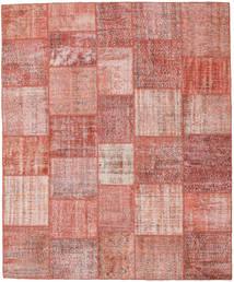 Patchwork Matto 251X303 Moderni Käsinsolmittu Vaaleanpunainen/Ruoste Isot (Villa, Turkki)