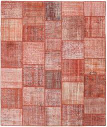 Patchwork Matto 251X298 Moderni Käsinsolmittu Tummanpunainen/Vaaleanpunainen Isot (Villa, Turkki)