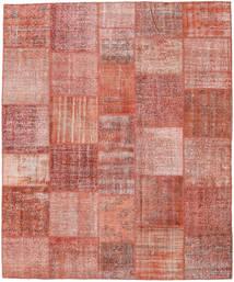 Patchwork Matto 252X303 Moderni Käsinsolmittu Tummanpunainen/Vaaleanpunainen Isot (Villa, Turkki)