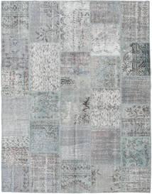 Patchwork Matto 196X251 Moderni Käsinsolmittu Vaaleanharmaa/Siniturkoosi (Villa, Turkki)