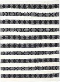 Shaula - Musta/Valkoinen Matto 250X350 Moderni Käsinkudottu Beige/Musta Isot (Villa, Intia)