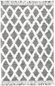 Inez - Tummanruskea/Valkoinen Matto 140X200 Moderni Käsinkudottu Vaaleanharmaa/Beige (Villa, Intia)
