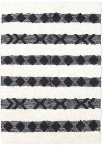 Shaula - Musta/Valkoinen Matto 160X230 Moderni Käsinkudottu Tummanharmaa/Beige/Valkoinen/Creme (Villa, Intia)