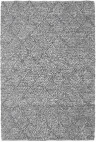 Rut - Tummanharmaa Melange Matto 160X230 Moderni Käsinkudottu Vaaleanharmaa/Tummanruskea (Villa, Intia)