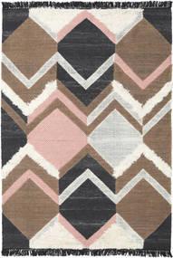 Silvana - Soft Roosa Matto 160X230 Moderni Käsinkudottu Tummanharmaa/Ruskea/Vaaleanharmaa (Villa, Intia)