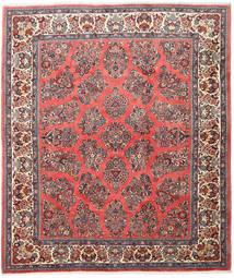 Sarough Matto 216X252 Itämainen Käsinsolmittu Beige/Tummanpunainen (Villa, Persia/Iran)
