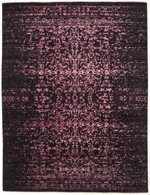 Damask Indo Matto 237X308 Moderni Käsinsolmittu Tummanruskea/Tummanvioletti ( Intia)
