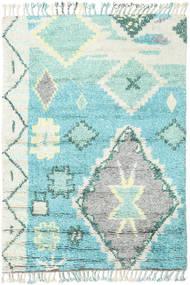 Odda - Turquoise Matto 160X230 Moderni Käsinsolmittu Vaaleanharmaa/Siniturkoosi (Villa, Intia)